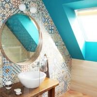 Ремонт на баня на мансарден етаж в София - снимки