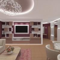 Интериорен дизайн на голям луксозен апартамент