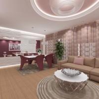 Интериорен дизайн на голям луксозен апартамент - вариант 2