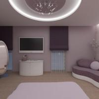 Спалня - елегантен интериор в лилаво