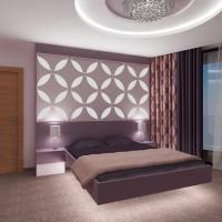 Спалня - елегантен интериор в лилаво - вариант 2