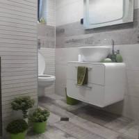 Изцяло ремонтирана малка баня в частен апартамент