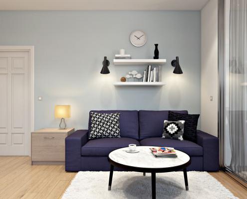 Ремонт на студио - боядисване в бяло и светло синьо