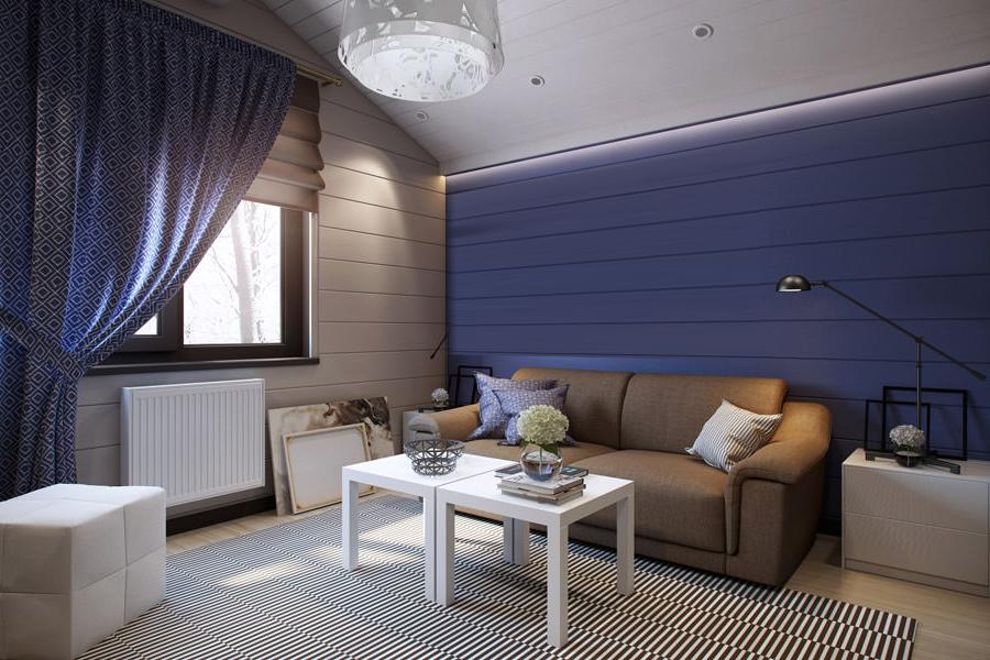 Ремонт на мансарден апартамент - обособено пространство за среща с приятели