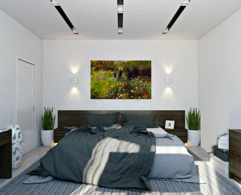 Ремонт на спалня с окачен таван и вградено осветление