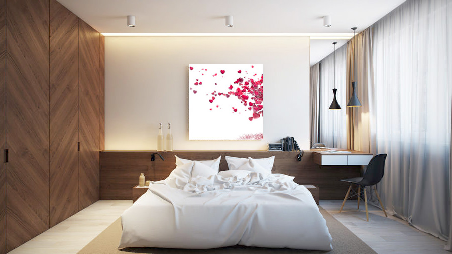 Ремонт на спалня - вкл. окачен таван, шпакловане, боядистване и обзавеждане.